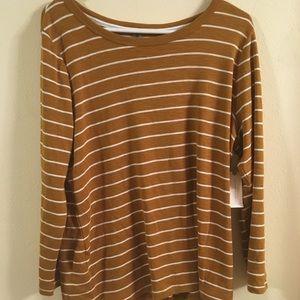 NWT XL Gold Anthropologie Shirt